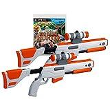 PS3 Cabela's Big Game Hunter 2012 Game W/ 2 GUNS Set Top Shot Elite Rifles