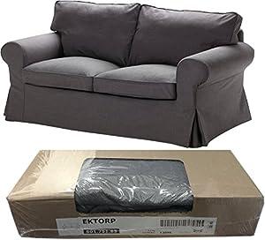 Amazon Ikea Ektorp Loveseat 2 Seat Sofa Slipcover Svanby Gray 801 751 85 Cover ly