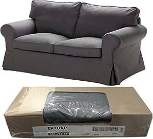 Ikea Ektorp Loveseat 2 Seat Sofa Slipcover Svanby Gray 801 751 85 Cover ly Amazon