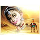 "Dolls Of India ""Reshma Shera"" Reprint On Paper - Unframed (43.18 X 33.02 Centimeters)"