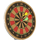KD Dart Game Set Double Sided Wooded Dart Board With 3 Dart