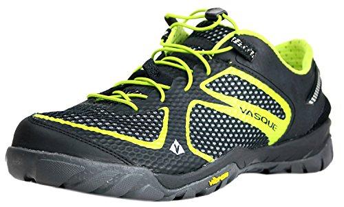 Vasque Men's Lotic Performance Water Shoe,Jet Black/Lime Green,10.5 M US