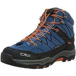 CMP Unisex-Kinder Rigel Trekking-& Wanderstiefel, Blau (Denim L580), 36 EU