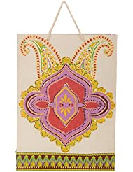 Utsav Kraft Paper 3 Ltrs Multicolour Reusable Shopping Bags (pack Of 10)