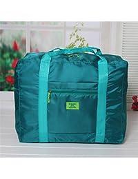 Generic Lake Blue : 2017 New Fashion WaterProof Travel Bag Large Capacity Bag Women Nylon Folding Bag Unisex Luggage...