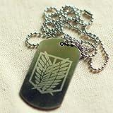 Shingeki no Kyojin Attack on Titan Scouting Legion Survey Corps Badge necklace