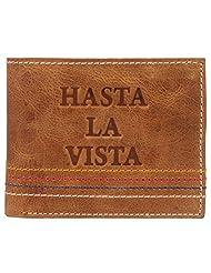 K London Hunter Real Leather Mens Wallet (Tan)(673_tan_hasta_4stictch)