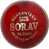 Sorav Men's Leather Cricket Ball - Standard, Red