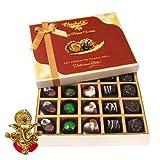 Chocholik Belgium Chocolates - Great Combination Of 20 Pc Assorted Chocolates With Ganesha Idol - Diwali Gifts