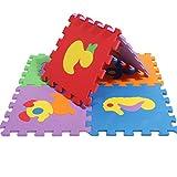 Finer Shop Puzzle Niños Linda Animals 10 Baldosas con Bordes Juega Estera de la Espuma (30 * 30 CM)