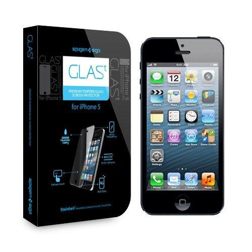 SPIGEN+SGP+iPhone5+シュタインハイル+GLAS.t+プレミアム+リアル+スクリーン+プロテクター+《強化ガラス液晶保護フィルム》+【SGP09435】