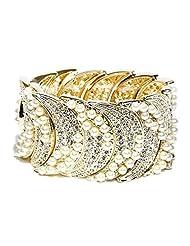 Golden Peacock Women Gold Toned Bracelet