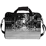 """Snoogg Do You Believe In Serendipity 13"""" 13.5"""" 13.6"""" Inch Laptop Notebook SlipCase With Shoulder Strap Handle Sleeve Soft Case With Shoulder Strap Handle Carrying Case With Shoulder Strap Handle For Macbook Pro Acer Asus Dell Hp Sony Toshib"""