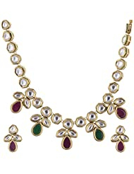 Ashapura Gold Plated Necklace With Studs For Women - N0291