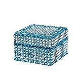 Rajrang Designer Lac Mirror Work Classic Aqua Blue Box