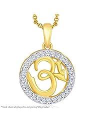 Peora Gold Plated OM Pendant (PFDP311)