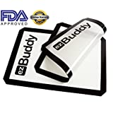 Silicone Baking Mats (2 Pack) - FREE E-Book On Healthy Cooking To Stay In Shape - Heat Resistant Of Up To 230°...