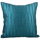 Svisti Raw Silk Single Piece Cushion Cover-Green, 40.64 Cm X 40.64 Cm - B00N3NZ4GQ