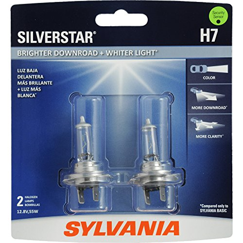 SYLVANIA H7 SilverStar High Performance Halogen Headlight Bulb, (Pack of 2)