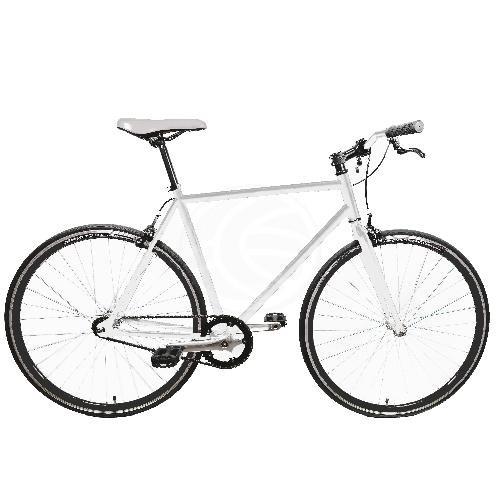 Bicicleta fixie blanca talla M para altura 160-175cm