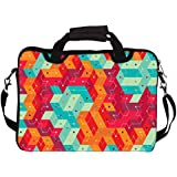 """Snoogg Cool Colourful Lines 12"""" 12.5"""" 12.6"""" Inch Laptop Notebook SlipCase With Shoulder Strap Handle Sleeve Soft..."""