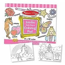 Jumbo Coloring Pad - Pink (11 x 14)