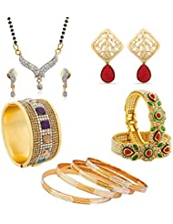 The Luxor Gold Plated Special Designer Combo For Women