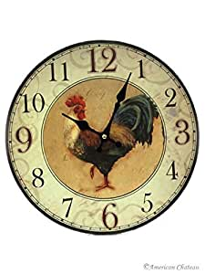 country kitchen clock rooster wall clock farm country kitchen 2759