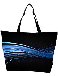 Snoogg Abstract Blue Design Designer Waterproof Bag Made Of High Strength Nylon