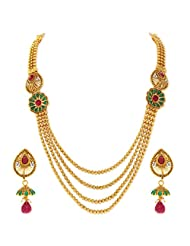 Sukkhi Trendy Gold Plated Four String Necklace Set