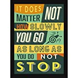 Framed Quotes For Inspiration - Home And Office Decor - Inspirational Quotes Gift - Don't Stop