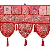 Elegant Toran Red Cotton Floral Patch Work Toran Décor By Rajrang