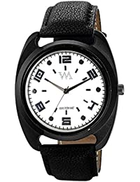 Watch Me White Dial Black Analog Leather Watch For For Men And Boys -043-Wtwm