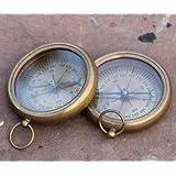 Nautical Vintage Antique Finish Compass Shiny Brass Finish Compass