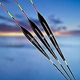 3PCS Fishing Floats Bobbers Balsa #G Tackle Tool Lightweight With Box Carp Perch