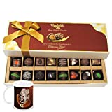 Chocholik Belgium Chocolates - Amazing Combination Of 8 Dark And 8 Milk Chocolate Box With Diwali Special Coffee...