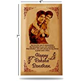 Presto Raksha Bandhan Gift Rakhi Gift Wooden Photo Frame By Engraving Process 7 X 4 Inch