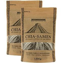 Chia Samen 2000g (2x1kg) - Hochwertige Qualität zum fairen Preis