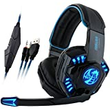 Figure Joy I8 Gaming Headset, 3.5mm Wired Stereo Over Ear Headband Headphones For PC Laptop Mac Mobile Phones...