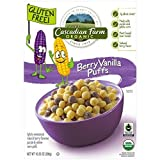Cascadian Farm Cereal Organic Berry Vanilla Puff Cereal Box, 10.25 Ounce