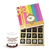 Chocholik Luxury Chocolates - Chocolate Philosophy Truffles Collection With Friendship Mug