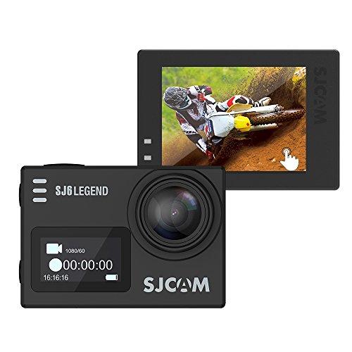 Andoer SJCAM SJ6 LÉGENDE double écran 2,0 po Touch écran Sports Action caméra NTK96660 4K 1080P 60fps Full HD 16MP étanche Wi-Fi 166 degré Grand Angle Gyro anti-tremblement sport Video voiture DVR FPV