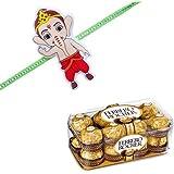 Bal Ganesha Kids Rakhi With 16 Pcs Ferrero Rocher