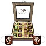 Chocholik - 16Pc Belgian Dark Chocolate With Diwali Special Coffee Mugs - Gifts For Diwali