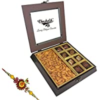 Rakhi Gift - Yummy Collection Of Almonds And Chocolates With Rakhi - Chocholik Dry Fruits