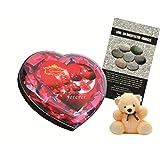 Skylofts Chocolate Valentine's Heart Box With A Cute Teddy & A Love Story Novel