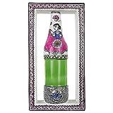 Ba No Batwo Glass Madhubani Mud Work Bottled Frame (30.48 Cm X 16.51 Cm X 30.48 Cm, White)