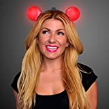 Red Light Up LED Mouse Ears Headband (Set Of 12)