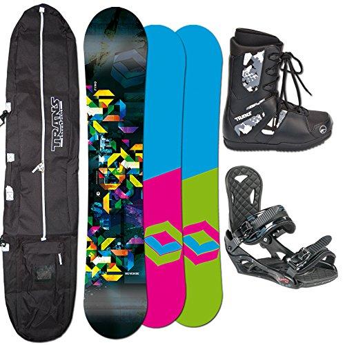 2014 FTWO Snowboard SET REVERSE 153 cm + Eco Bindung Gr. L + Boots + Bag