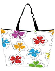 Snoogg Abstract Summer Background Waterproof Bag Made Of High Strength Nylon - B01I1KK4ZQ